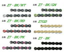 KMC Z7 (7-8速用チェーン) GD -BK/GN -BK/PK -BK/WT -BK/RD
