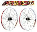 SUN ringle PUNCH DJ 26inch ETRTO:559 Front+Rear Wheel set Color: White ( MTB用 フロント+リア 完組ホイールセット ) サンリングル パンチDJ 26インチ ホイール前後セット カラー: ホワイト SUNringle SS02P02dec12
