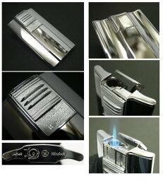 送料205円〜日本製 斬新アーチ形状 超薄型9mm ARCバーナーガスライター(クロームミガキ)ターボライターを発明したWindmill社製