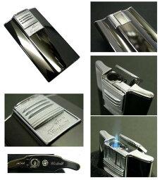 送料205円〜日本製 斬新アーチ形状 超薄型9mm ARCバーナーガスライター(黒ニッケルミガキ)ターボライターを発明したWindmill社製