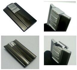 送料205円〜日本製 斬新アーチ形状 超薄型9mm ARCバーナーガスライター(黒ニッケルパール)ターボライターを発明したWindmill社製