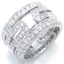 [銀座店]BVLGARI ブルガリ パレンテシ ダイヤモンド リング #49 750 WG ホワイトゴールド フル サークル DH45576【大黒屋質店出品】【中古】【送料無料】