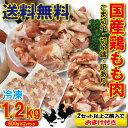 【送料無料】こま切れ 国産鶏もも肉 1.2kg(600g×2パック) 冷凍 端切れ 訳あり