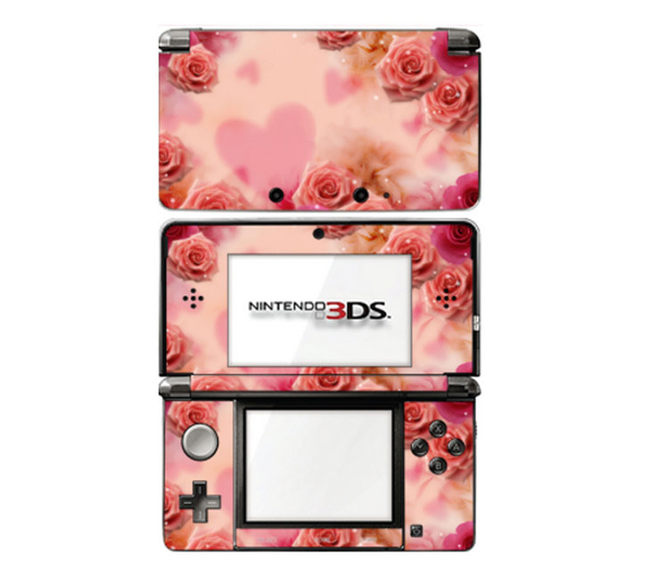 【即納 sg】 ニンテンドー 3DS スキンシール DecalSkin [BF16/ピンクローズ] デコ シール デコシート スキン シート カバーシール 送料無料