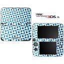 【お取寄せ】 ニンテンドー new3DSLL スキンシール DecalSkin [PA23/Blue Circle Dots Pattern] new3DS LL デコ シール デコシート スキン シート カバーシール new 3DSLL 送料無料 new 3DS LL