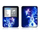 【お取寄せ】 iPod nano 第3世代 スキンシール DecalSkin A1 Electric Flower デコ シール デコシート 前面 背面 シール カバーシール アイポッド ナノ iPodnano アイポッドナノ 3世代 3rd 送料無料
