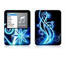 【お取寄せ】 iPod nano 第3世代 スキンシール DecalSkin AS9 Abstract Neon デコ シール デコシート 前面 背面 シール カバーシール アイポッド ナノ iPodnano アイポッドナノ 3世代 3rd 送料無料