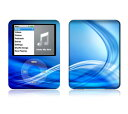 【お取寄せ】 iPod nano 第3世代 スキンシール DecalSkin Z2 Abstract Blue デコ シール デコシート 前面 背面 シール カバーシール アイポッド ナノ iPodnano アイポッドナノ 3世代 3rd 送料無料