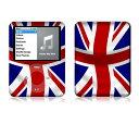 【お取寄せ】 iPod nano 第3世代 スキンシール DecalSkin Z5 UK Flag デコ シール デコシート 前面 背面 シール カバーシール アイポッド ナノ iPodnano アイポッドナノ 3世代 3rd 送料無料