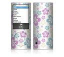楽天デカルスキンストア【お取寄せ】 iPod nano 第5世代 スキンシール DecalSkin [YU5 Flowers in the Air] デコ シール デコシート 前面 背面 シール カバーシール アイポッド ナノ iPodnano アイポッドナノ 5世代 5th 送料無料