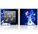【お取寄せ】 iPod nano 第6世代 スキンシール DecalSkin [A1 Electric Flower] デコ シール デコシート 前面 背面 シール カバーシー..