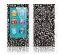 【お取寄せ】DecalSkin スキンシール Apple iPod nano 第7世代 BZ4/グレー レオパード 豹柄