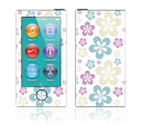 【お取寄せ】 iPod nano 第7世代 スキンシール DecalSkin YU5/Flowers in the Ai デコ シール デコシート 前面 背面 シール カバーシール アイポッド ナノ iPodnano アイポッドナノ 7世代 7th 送料無料