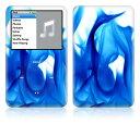 【iPod classic】スキンシール【お取寄せ】iPodclassic A2/青い炎 [ アイポッド クラシック ] かわいい/カバー/ケース/人気/おしゃれ/デコ/ステッカー デジタルオーディオプレーヤー アップル アクセサリー