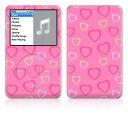 【お取寄せ】DecalSkin スキンシール Apple iPod classic LP3/ピンクハート