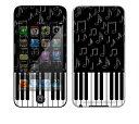 【お取寄せ】DecalSkin スキンシール Apple iPod touch 第4世代 YU38/ピアノ
