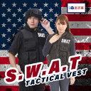 スワット SWAT コスプレ ミルフォース ベスト ハロウィ...