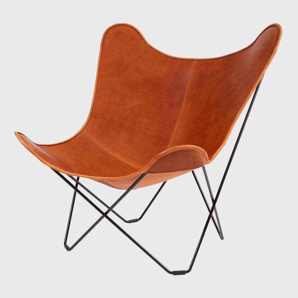 【100円クーポン+キャッシュレス還元】北欧スウェーデン/BKF Chair BKFチェア/ブラウンレザー