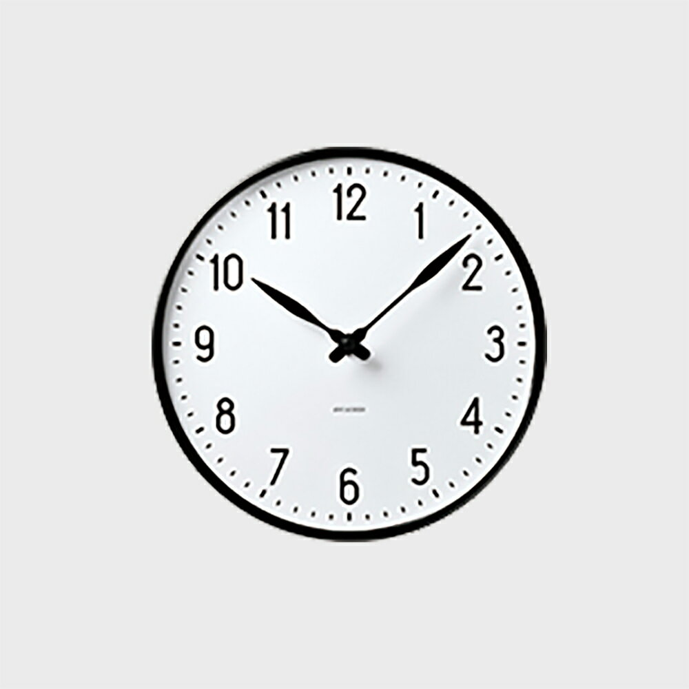 【クーポン+キャッシュレス+エントリーで最大13%お得】ローゼンダール アルネ ヤコブセン 掛時計・壁掛け時計 STATION ステーション 210 [ デザイナーズ ウォールクロック 北欧 ]