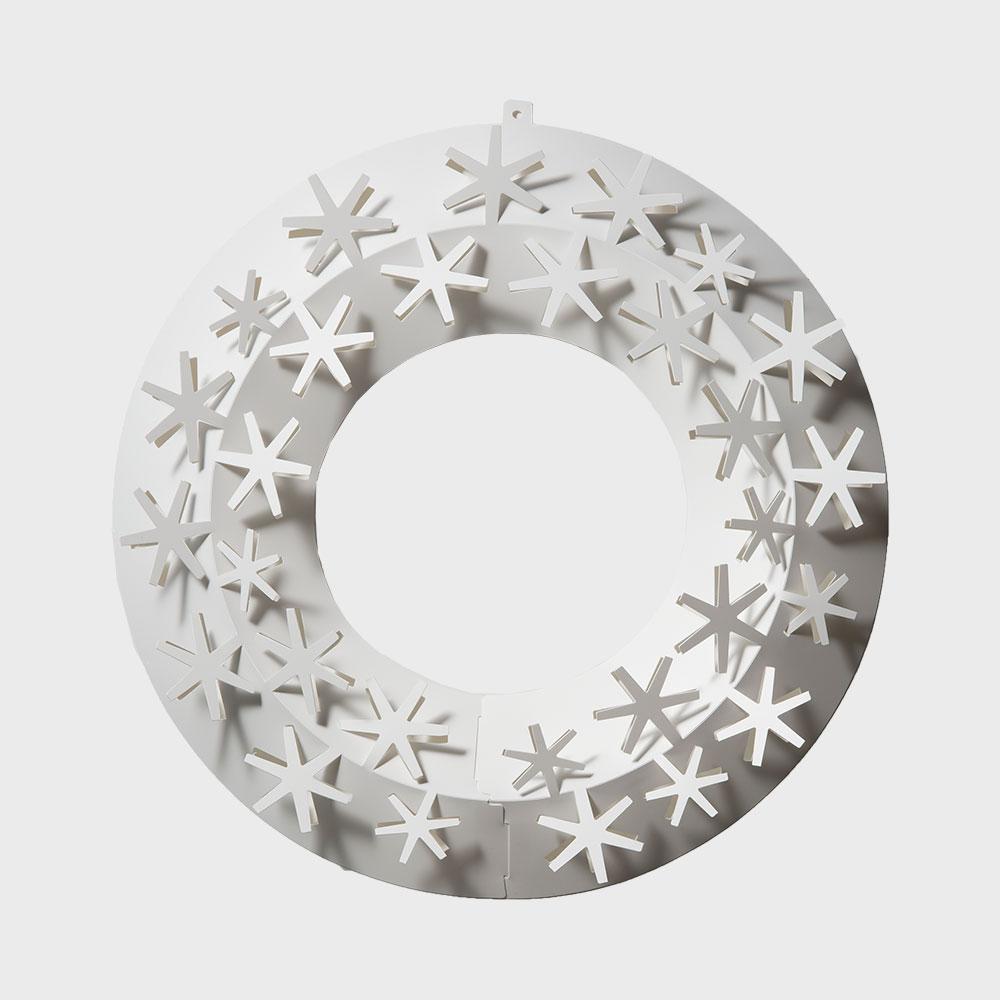 【¥100クーポン】クリスマスリース ホワイト/paper wreath/雪 S【ネコポス対応】 [クリスマスリース/ホワイトはchiori design ペーパーリース][ネコポス便 1/7]