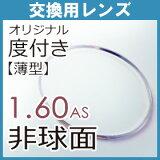 【フレーム持込交換用】 レンズ交換 1.60薄型非球面(2枚、1組)