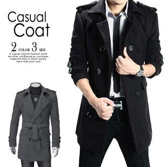 男裝外套大衣 mote 外套風衣外套長外衣 * () 和非外套