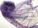 期間限定 ストール レディース アートな 刺繍 デザイン シルクスカーフ 定番 クラフト感 マフラー 女性用 コーデ ギフト ※fu