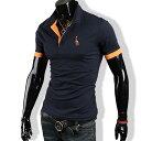 ポロシャツ メンズ tシャツ カットソー 半袖 胸刺繍 ゴルフウェア トップス カジュアル コーデ