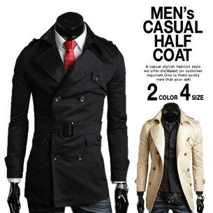 トレンチコート ベージュ ブラック ジャケット アウター ビジネス コーディネート