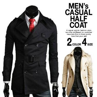 男裝外套風衣外套半法院的雙層被毛夾克外套外套兄弟系列外套 mensfashioncourt 協調成人的審價法院紳士衣服外衣