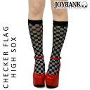 ハロウィンコスプレアクセサリーレディースチェックフラッグ柄ハイソックス格子ブロックチェック靴下パーティイベント衣装