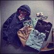 サイズ・カラー選べる 2点セット 大きいサイズ パーカージャケット メンズ 細身 モザイク ミリタリー アウター ジャンパー ブルゾン コーデ カジュアル 春 秋 冬