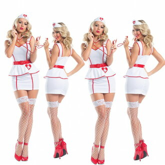 護士護士女士萬聖節化裝服裝聽診器與護士著裝女士晚會事件服裝