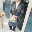 ハーフコート メンズ アウター テーラード シングル 総柄 柄切替 パッチワーク風 へリンボーン 千鳥 モノトーン シック きれいめ カジュアル メンズファッション コート