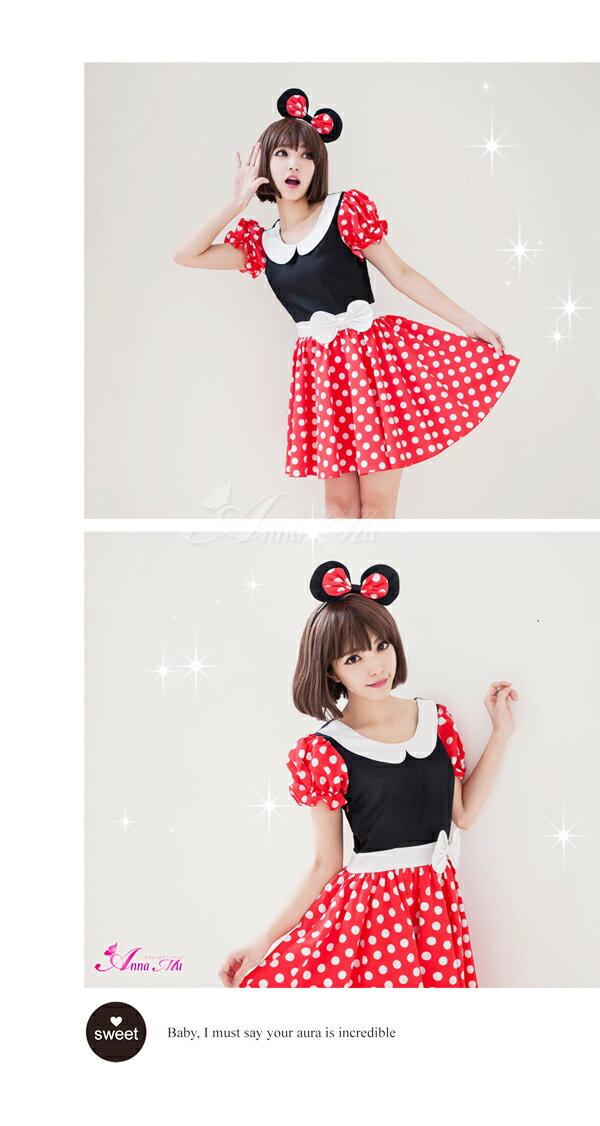 ミニーマウス コスチューム キャラクター コスプレ コスチューム ハロウィン 衣装 大人 仮装 女性:DOUBLE(ダブル)