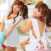 コスプレ 裸エプロン メイド服 コスプレ衣装 メイド ハロウィン コスチューム 仮装