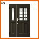 玄関ドア クリエラR 親子ドア 12型ランマ無 ドアクローザー付 LIXIL/TOSTEM