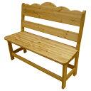 [カントリー家具]ベンチチェアー(リビングチェア)【送料無料】[完成品]木製 ナチュラル カントリーテイスト フレンチカントリー モダン 無垢