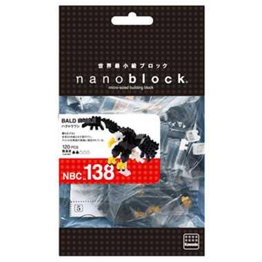 ナノブロック ハクトウワシ nanoblock nanoブロック マメログ mamelog ダイヤブロック おもちゃ 知育玩具