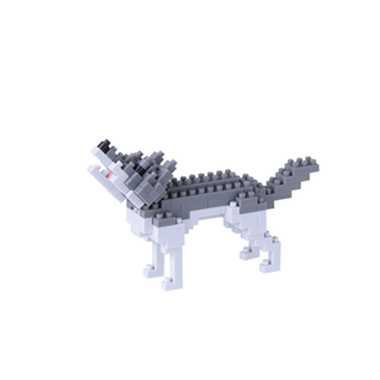 ナノブロック オオカミ nanoblock nanoブロック マメログ mamelog ダイヤブロック おもちゃ 知育玩具