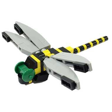 ナノブロック プラス オニヤンマ nanoblock+ nanoblock nanoブロック マメログ mamelog ダイヤブロック おもちゃ 知育玩具