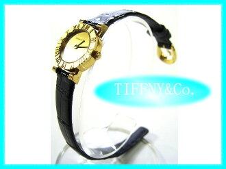 Tiffany-watch Atlas K18YG gold ladies quartz TIFFANY & Co. clock