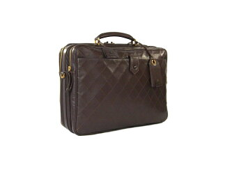 Chanel matelasse Boston bag Briefcase calf leather business CHANEL