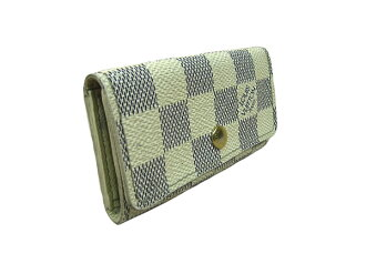 Louis Vuitton Damier Azur key cases N60020 DAMIER LOUIS VUITTON 4 books for key holder key holder 4