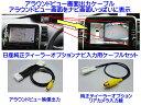 C27 セレナ アラウンドビュー モニター 映像 純正ナビ MM516-L MM316D-Wに映せる アラウンドビューモニター映像出力ケーブル 純正リアカメラ入力ケーブル セット