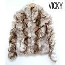 【VICKY】ビッキー ファー ブルゾン ジャケット ブルーフォックス 2 毛皮 【中古】