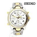 【SEIKO】セイコー 腕時計 メンズ 1/100クロノグラフ ステンレス クオ—ツ コンビ デイト 【中古】