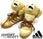 【adidas×JEREMY SCOTT】アディダス ジェレミースコット ブラウンテディベアスニーカー 24.5cm 未使用 G44000 靴 レディース 女性用 クマ 箱有 RC1057