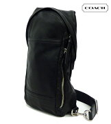 【COACH】コーチ トンプソン コンバーチブルレザースリングボディバッグ 70617ブラック スリングバッグ ワンショルダー 美品【中古】FF0522
