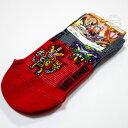 ショッピング仮面ライダーセイバー 仮面ライダーセイバー メッシュ スニーカーソックス 15-20cm プチ柄 赤&グレー 靴下 聖刃